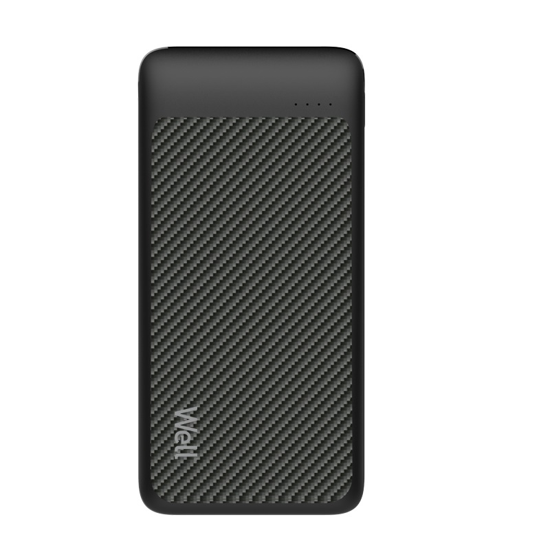 Acumulator extern powerbank Well, 10000 mAh, 2.1 A, negru imagine
