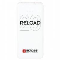 Acumulator extern powerbank Skross Reload, 20000 mAh, alb