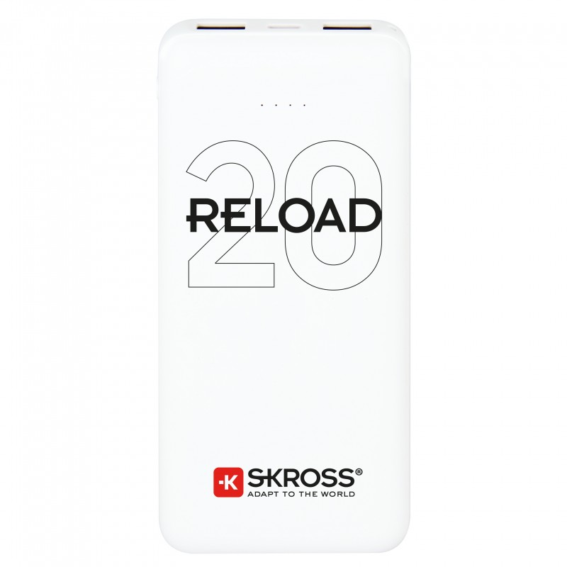 Acumulator extern powerbank Skross Reload, 20000 mAh, alb imagine