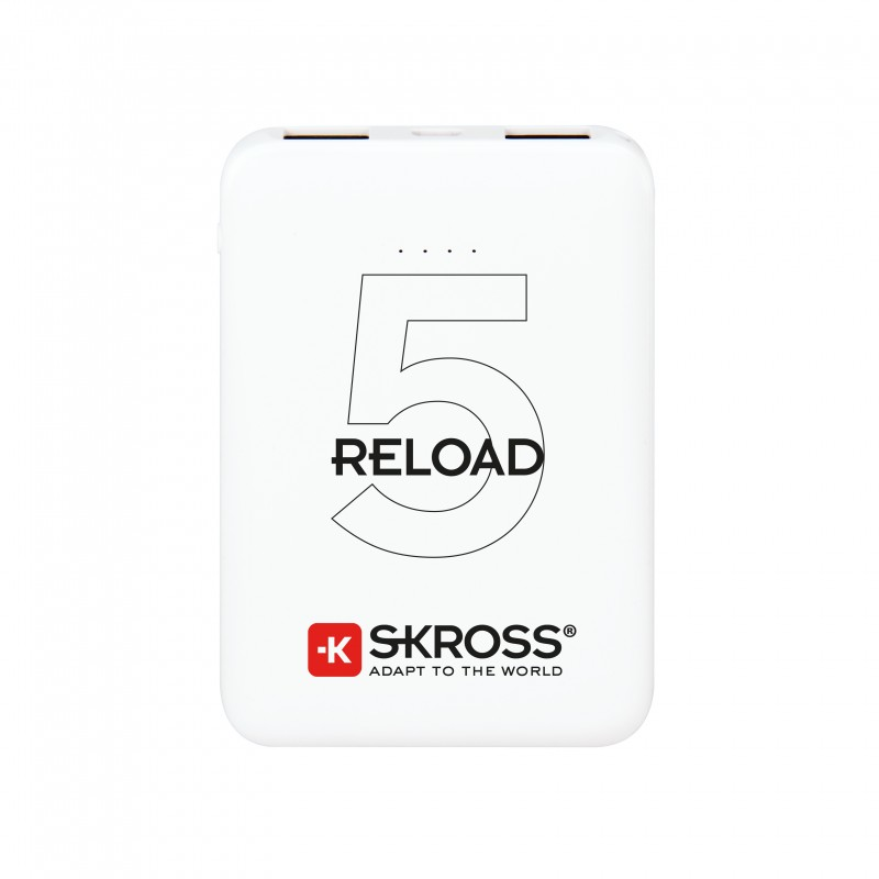Acumulator extern powerbank Skross Reload, 5000 mAh, alb imagine