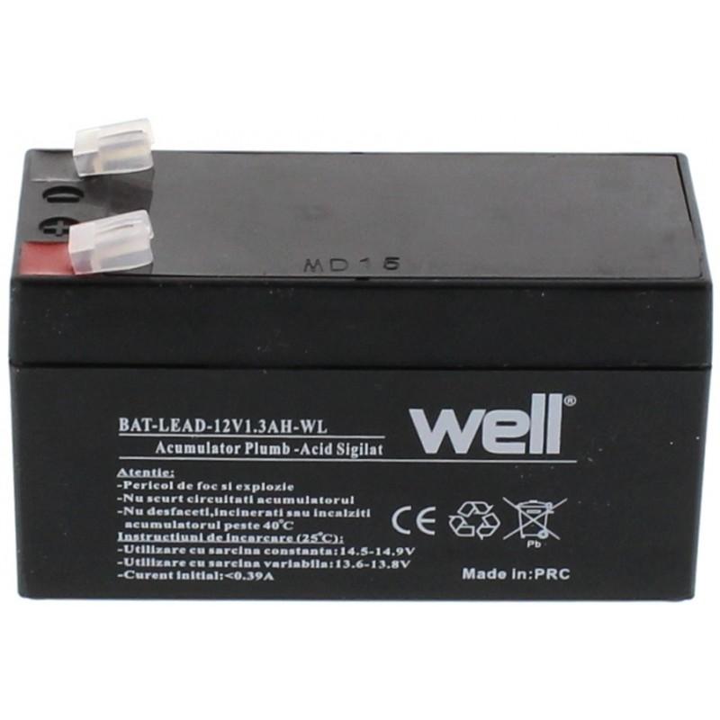 Acumulator plumb acid Well, 12V, 1.3Ah 2021 shopu.ro