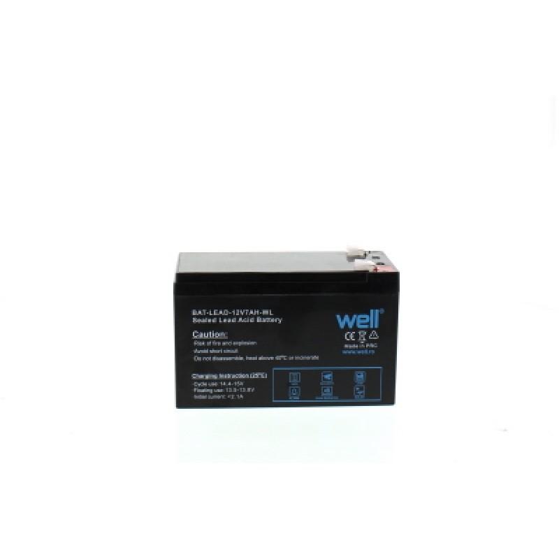 Acumulator plumb acid Well, 12 V, 7 Ah, borne late 2021 shopu.ro