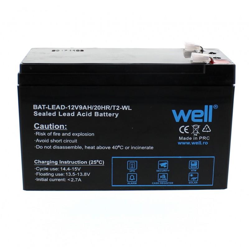 Acumulator plumb acid Well, 12 V, 9 Ah, borne late
