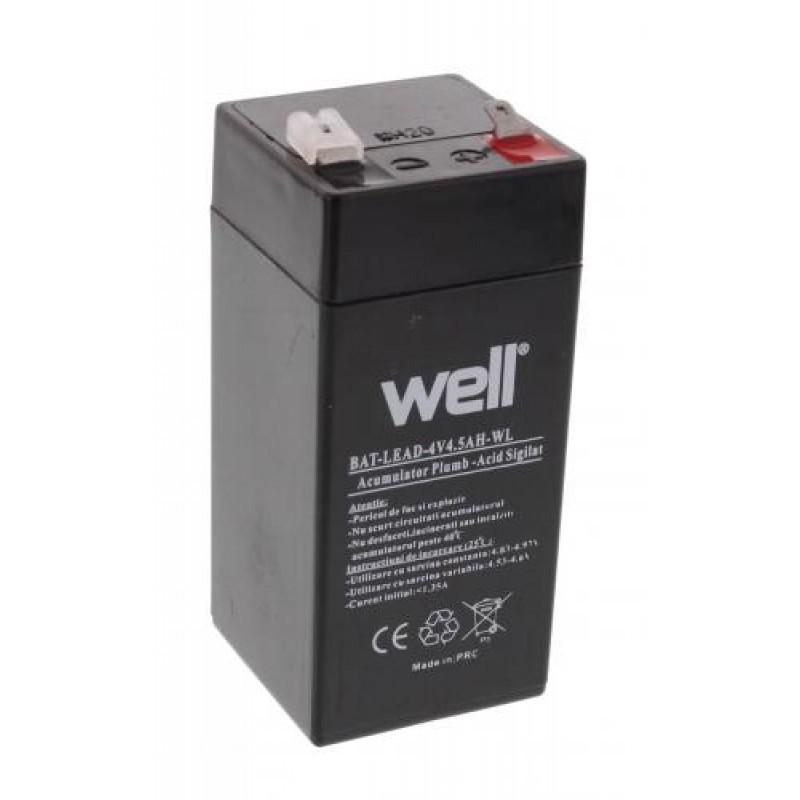 Acumulator plumb acid Well, 4V, 4.5Ah 2021 shopu.ro