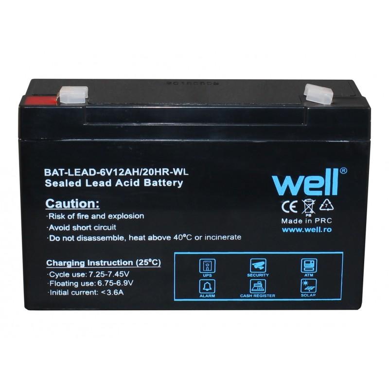 Acumulator plumb acid Well, 6 V, 12 AH 2021 shopu.ro
