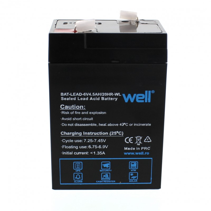 Acumulator plumb acid Well, 6V, 4.5Ah