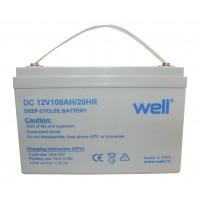 Acumulator Well, plumb acid deep cycle, 12V, 100 Ah