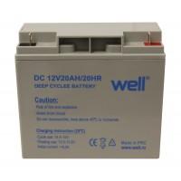 Acumulator Well, plumb acid deep cycle, 12V, 20 Ah
