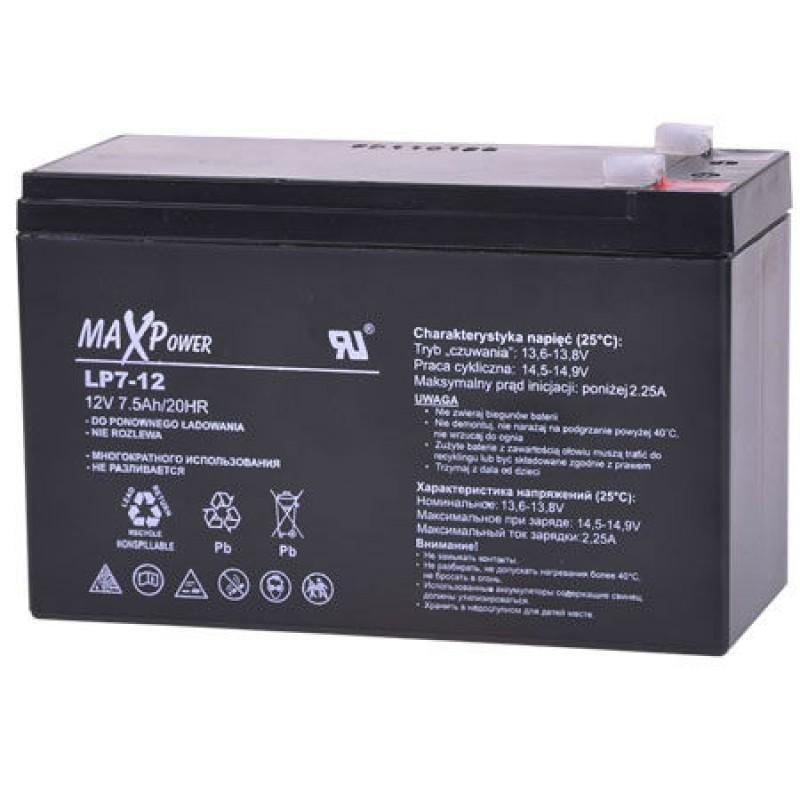 Acumulator stationar SLA MaxPower, 12 V, 7 Ah 2021 shopu.ro
