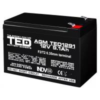 Acumulator VRLA Ted Electric, 12 V, 9.1 Ah, 151 x 65 x 95 mm