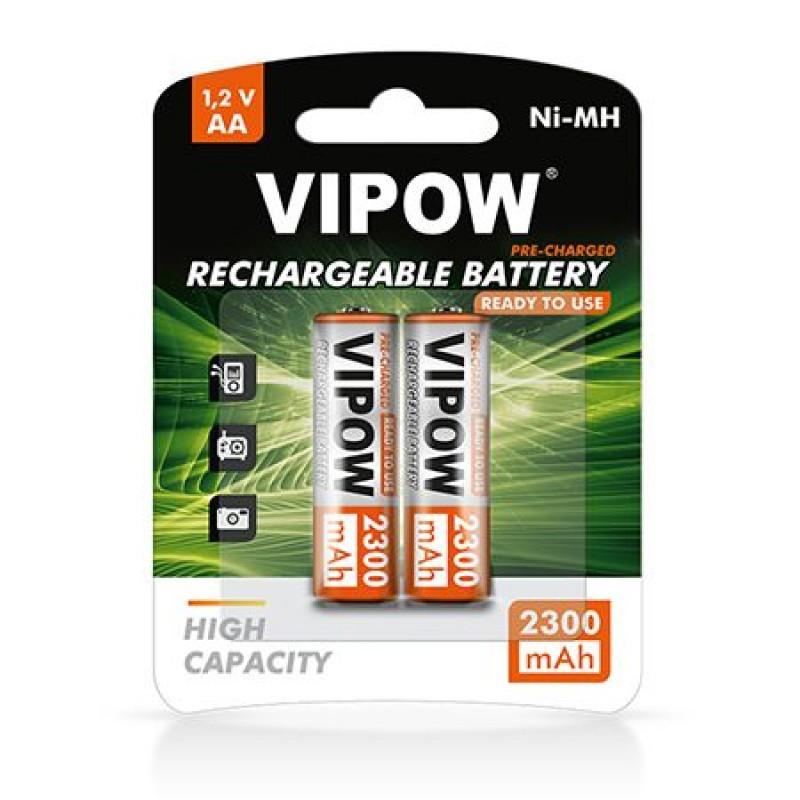 Acumulatori Vipow 1.2 V AA Ni-MH, 2300 mAh, 2 bucati 2021 shopu.ro
