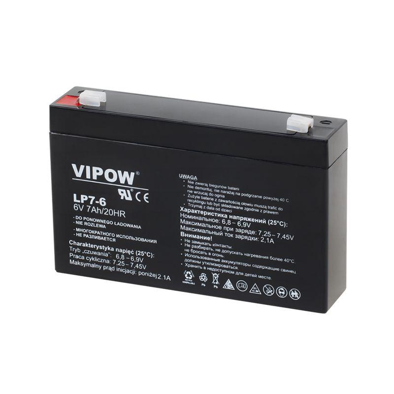 Acumulator gel plumb Vipow, 6 V, 7 Ah 2021 shopu.ro