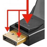 Adaptor displayport tata DVI-I mama Goobay, 24+5 pin, Negru