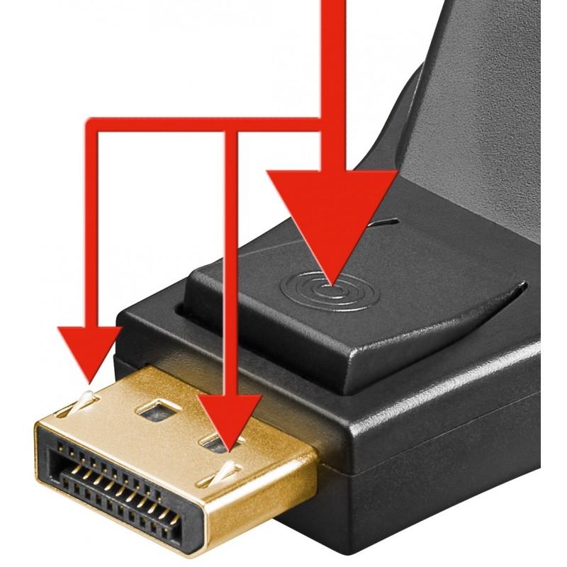 Adaptor displayport tata DVI-I mama Goobay, 24+5 pin, Negru 2021 shopu.ro