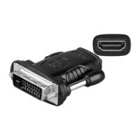 Adaptor Goobay, HDMI mama, DVI 24+1 tata, Negru