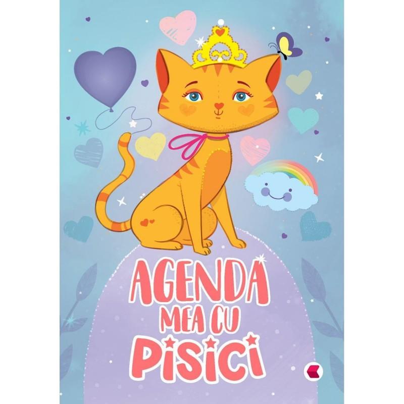 Agenda Pisici Editura Kreativ, 96 pagini, 12 x 17 cm, Multicolor 2021 shopu.ro