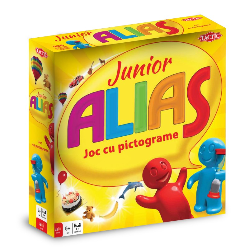 Joc de societate Alias Junior, 5 ani+, 2 jucatori+