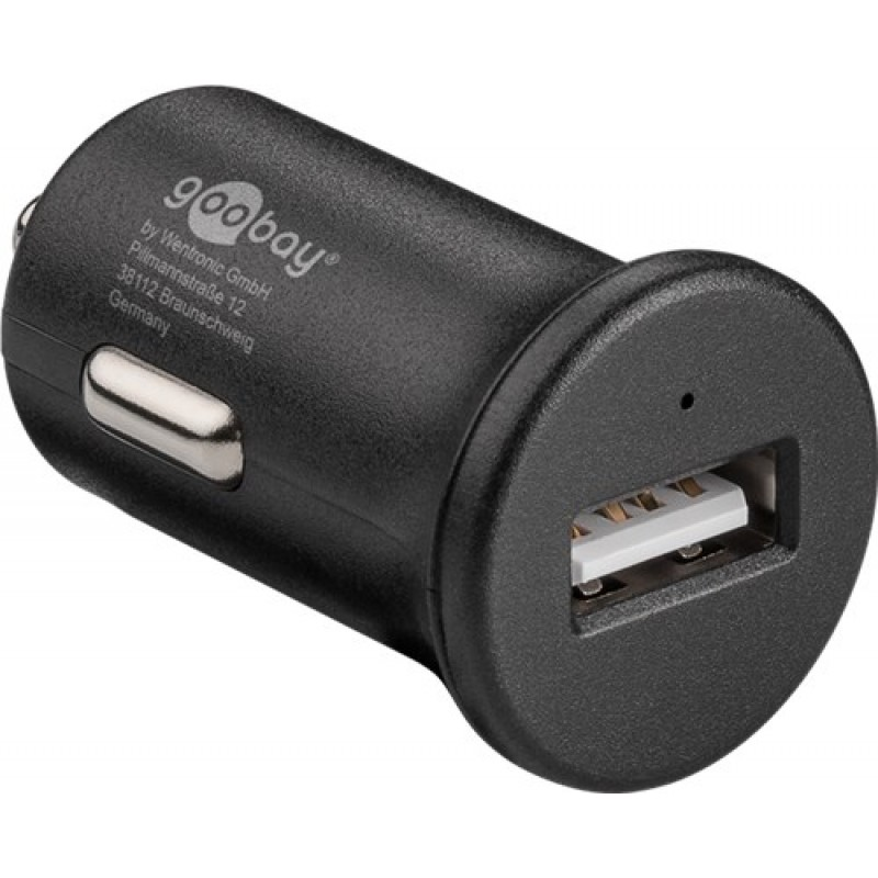 Alimentator USB bricheta auto Goobay, Quick Charge 3.0, 1 iesire, 3 A, negru 2021 shopu.ro