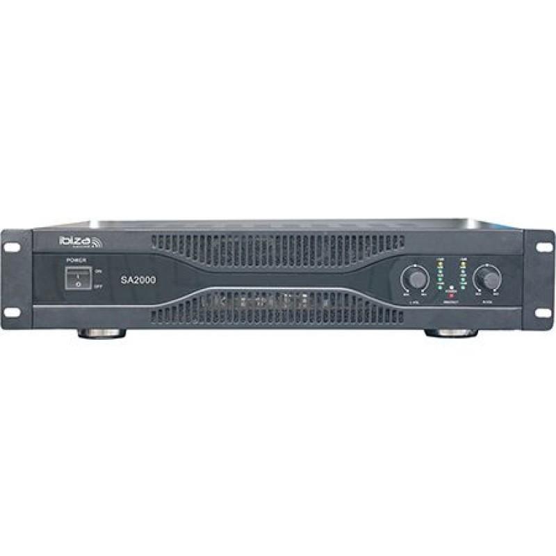 Amplificator Ibiza, XLR, RCA, jack 6.3 mm, 2 x 1000 W 2021 shopu.ro