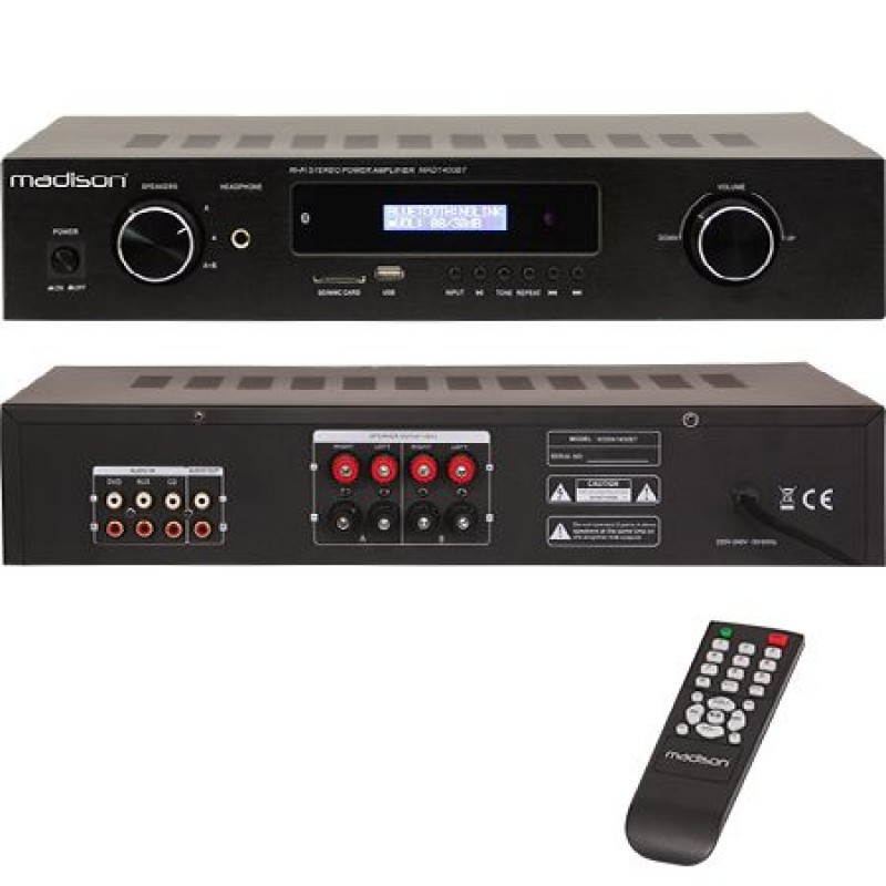 Amplificator Madison, FM tuner, 3 intrari, USB, DVD, AUX, 2 x 180 W 2021 shopu.ro