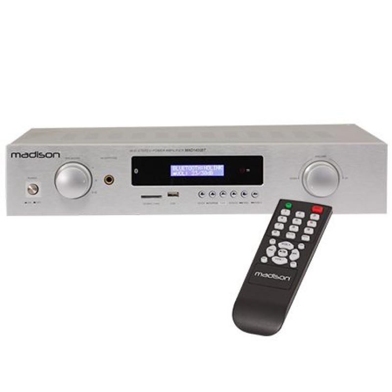 Amplificator cu tuner Madison, 2 x 180 W, 4 Ohm, USB/BT/SD, iesire casti, telecomanda 2021 shopu.ro