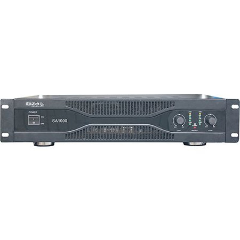Amplificator audio Ibitza, 2 x 500 W, protectie termica, racire cu ventilator 2021 shopu.ro