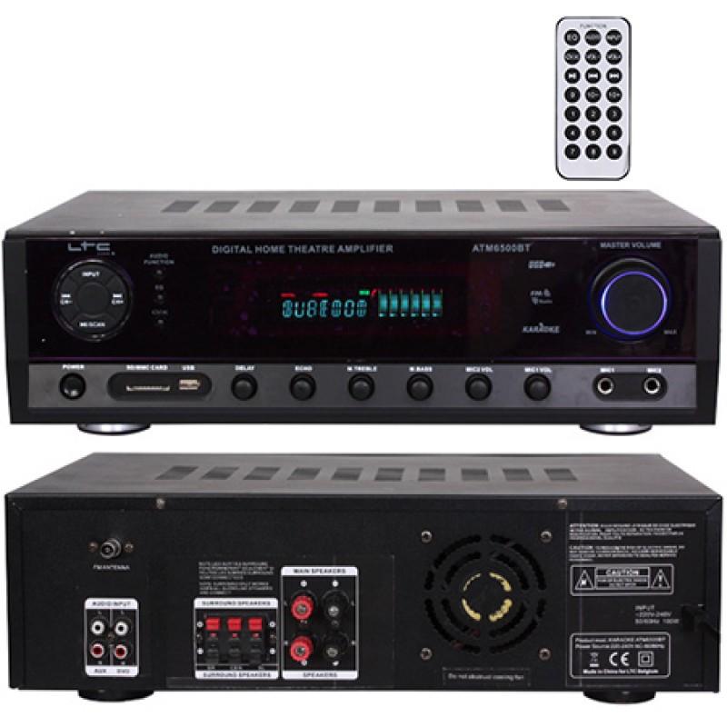 Amplificator polivalent, FM, Bluetooth, USB, AUX, card SD, 2 x 50 W 2021 shopu.ro