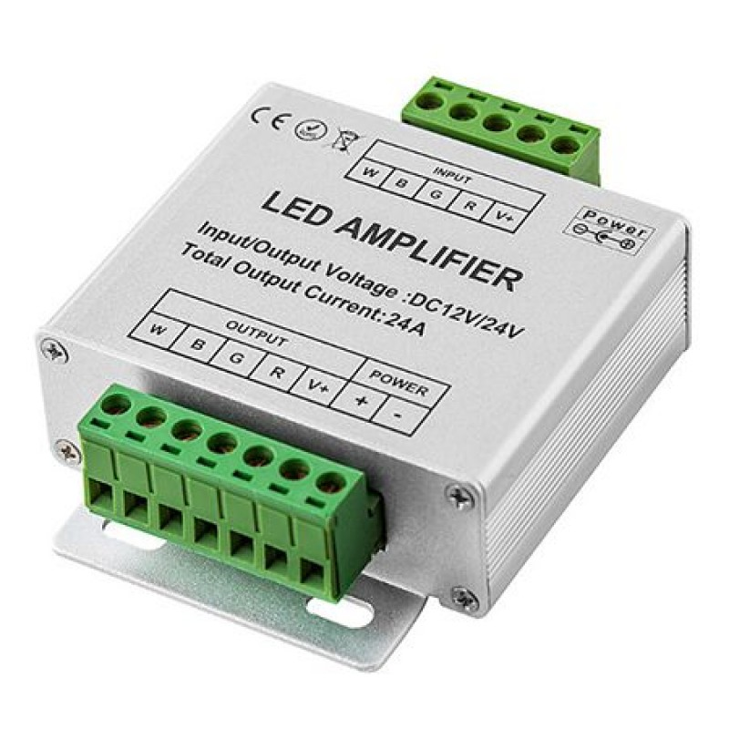 Amplificator banda LED RGB+W, 2.4 A, 12 V 2021 shopu.ro