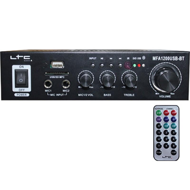 Amplificator karaoke, USB, SD, Bluetooth, telecomanda, 2 x 20 W 2021 shopu.ro