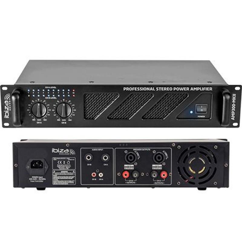 Amplificator sonorizare, 2 x 240 W, ventilator racire, iesire RCA/jack 2021 shopu.ro