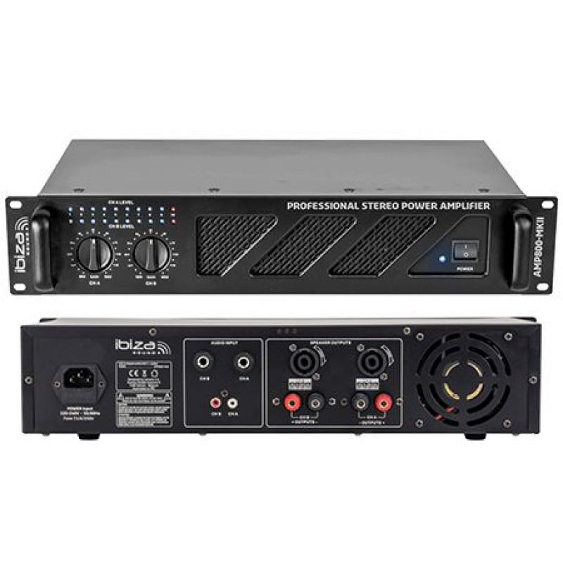 Amplificator sunet Ibiza Sound, 2 x 600 W, 4-8 Ohm, soft Start 2021 shopu.ro