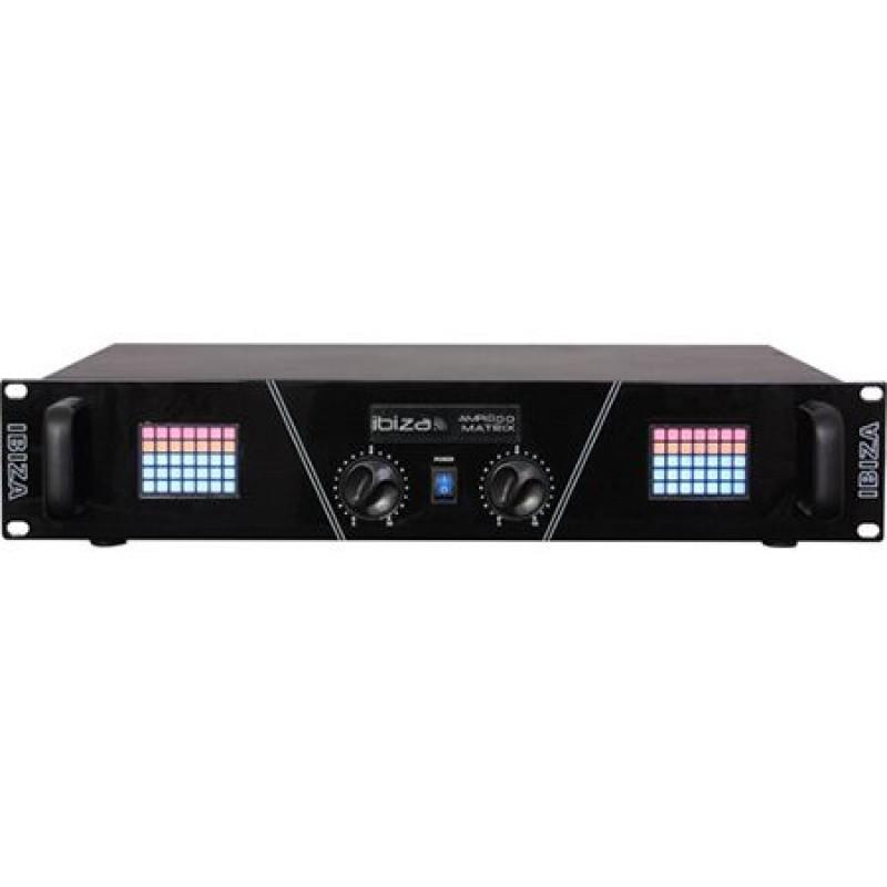 Amplificator sonorizare Ibiza, afisaj matrix, RCA, jack 6.35 mm, XLR, 2 x 800 W