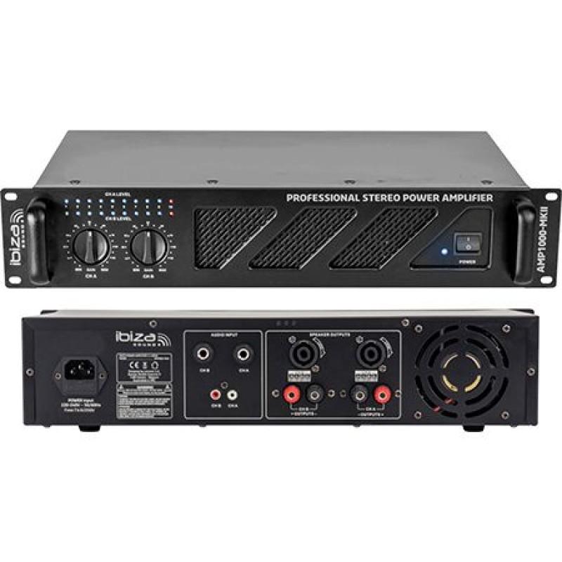 Amplificator sonorizare, 2 x 800 W, control volum, 4 Ohm, Negru 2021 shopu.ro
