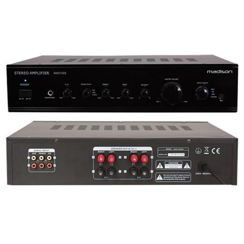 Amplificator stereo Madison, 2 x 80 W RMS, negru 2021 shopu.ro