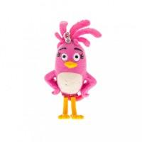 Figurina plastic cu agatatoare Angry Birds 3D Stella, 8.5 cm