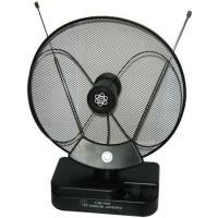 Antena TV cu amplificare, 30 dB, Negru