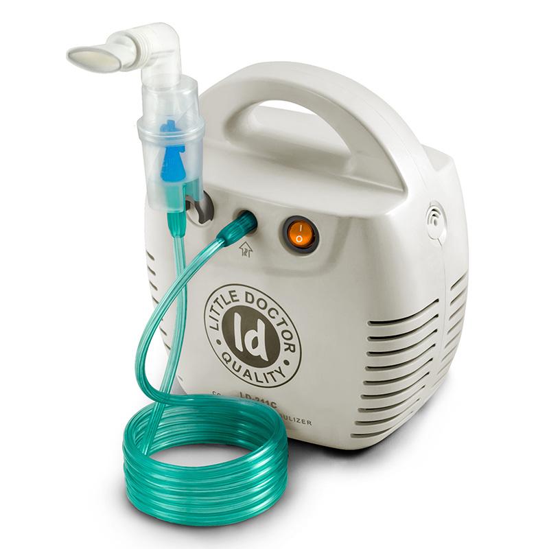 Aparat aerosoli cu compresor Little Doctor, 10 ml, 3 dispensere, 3 masti, accesorii incluse, cutie detasabila 2021 shopu.ro