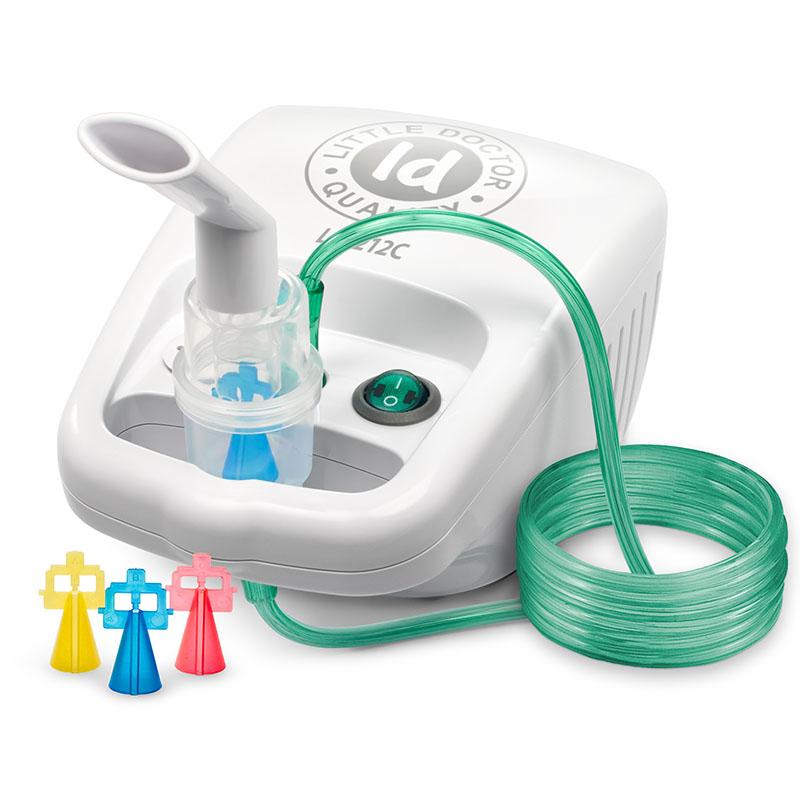 Aparat aerosoli cu compresor Little Doctor, 10 ml, 3 dispensere, accesorii incluse, Alb 2021 shopu.ro