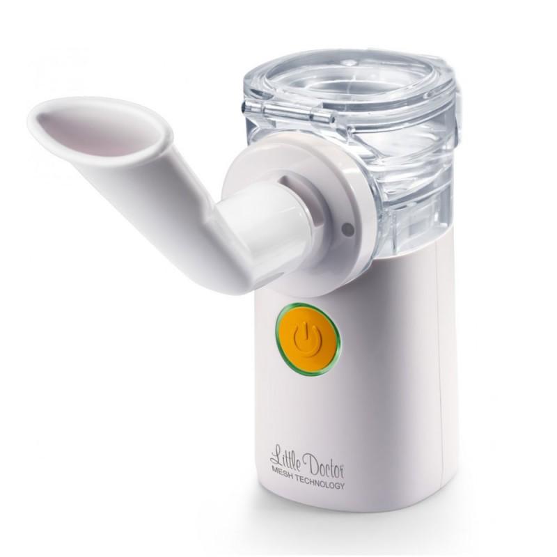 Aparat aerosoli portabil Little Doctor, 8 ml, 2 x AA, cablu USB, ultrasunete/tehnologie mesh, accesorii incluse, Alb 2021 shopu.ro