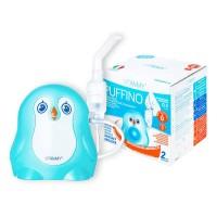 Aparat aerosoli Vitammy Puffino,  0.2-0.4 ml/min, 2 masti incluse, 2 moduri nebulizare, Albastru