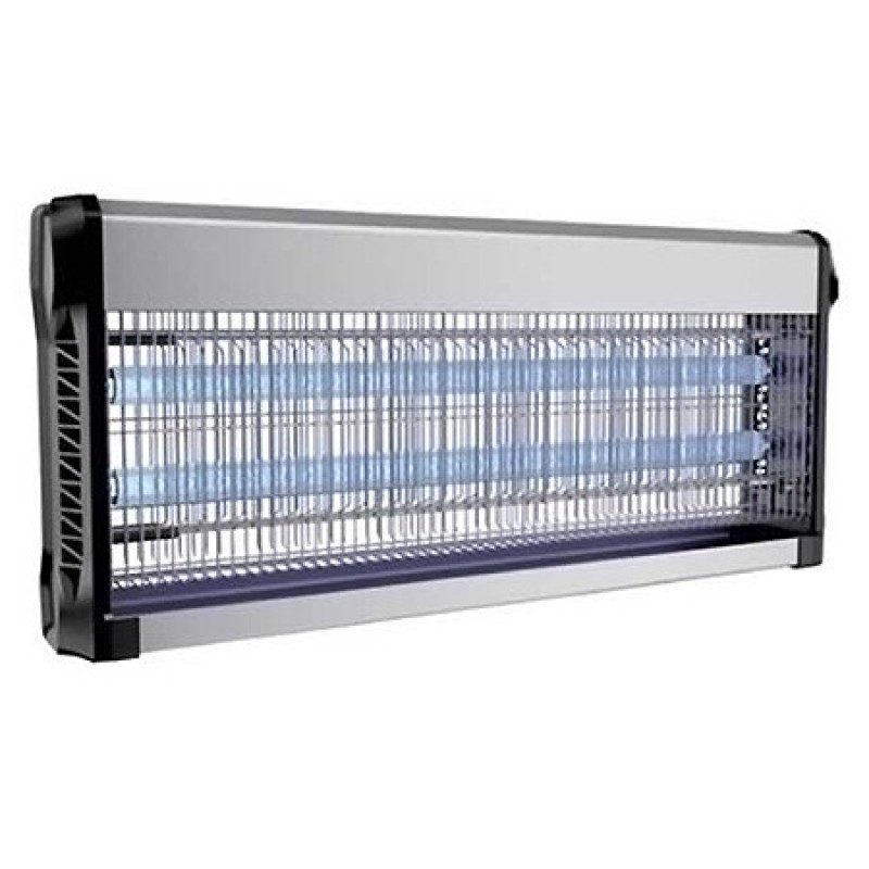 Aparat anti-insecte, lumina UV, 2 x 20 W, carcasa aluminiu, Negru 2021 shopu.ro