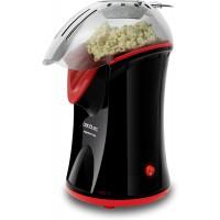 Aparat popcorn Cecotec, 1200 W, fara ulei, tehnologie aer cald, Negru/Rosu