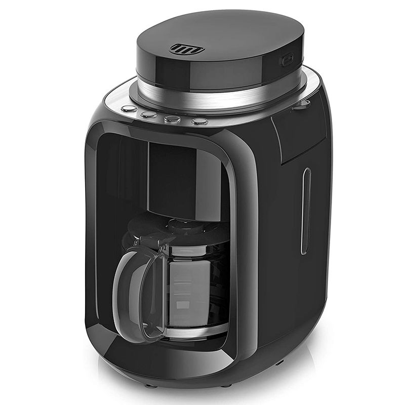 Aparat de facut si macinat cafea Pem, 600 W, 600 ml, 2 programe automate, protectie anti-picurare