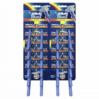 Set aparate de ras Gillette Blue ll Plus Ultragrip Card, 24 bucati