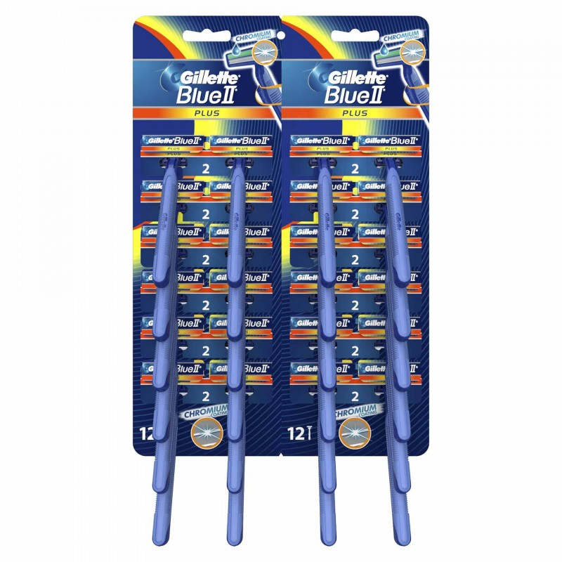 Set aparate de ras Gillette Blue ll Plus Ultragrip Card, 24 bucati 2021 shopu.ro