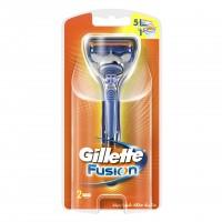 Aparat de ras Gillette Fusion manual, 5 lame, 2 rezerve incluse