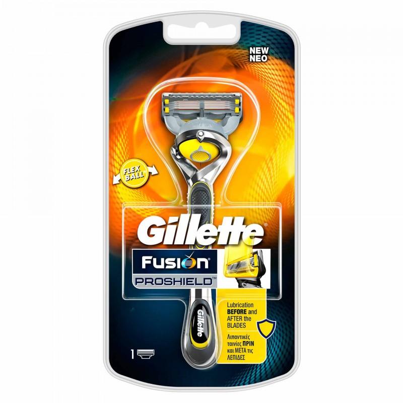 Aparat de ras Gillette Fusion Proshield, 4 lame, benzi lubrifiante 2021 shopu.ro