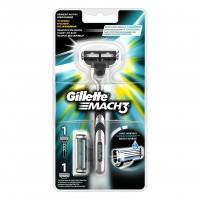 Aparat de ras Gillette Mach3, 2 rezerve incluse