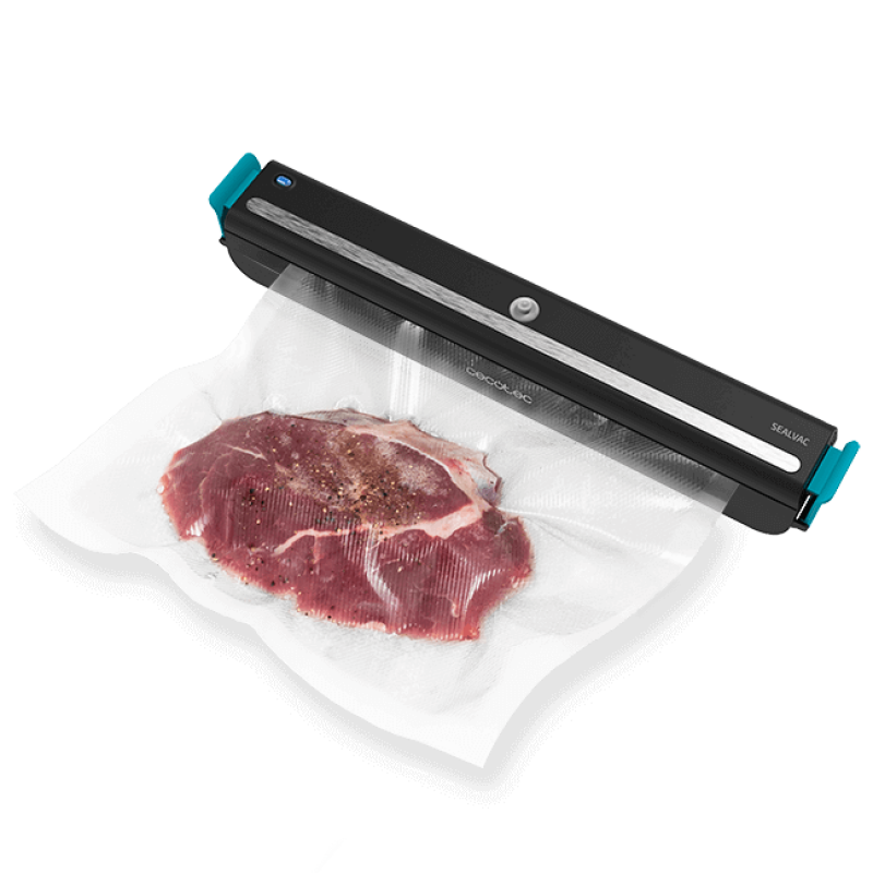Aparat de vidat Cecotec FoodCare SealVac Easy, 85 W, 0.6 bar, Iluminare LED, design compact