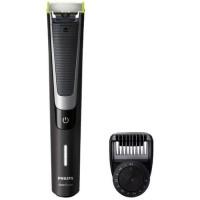 Aparat hibrid de barbierit si tuns barba Philips OneBlade Pro, 12 lungimi, acumulator, Negru